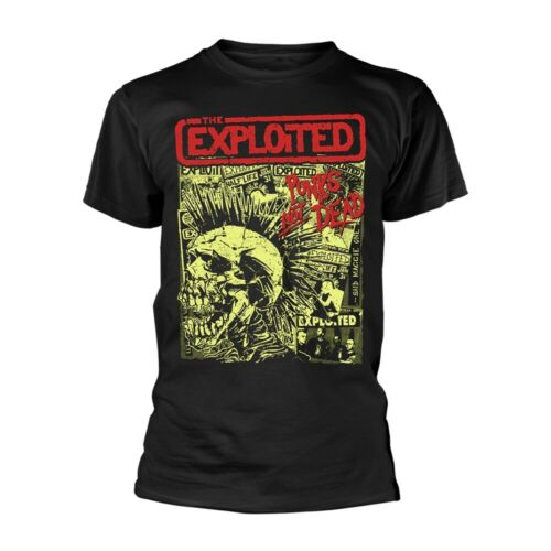Noir Neuf T Shirt Officiel *** 2019 NEUF ** The exploited punks not dead