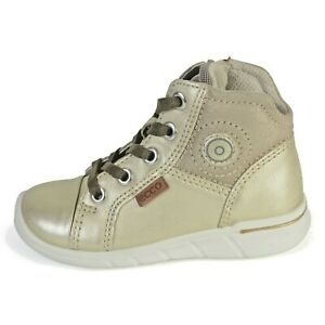 754021 Girls de de Ecco arena First cuero y piedra de caliza con cremallera encaje dorada Zapatos 4FnETgwq