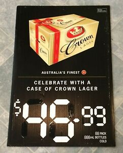 Crown-Lager-Beer-Gift-Case-Advertising-Corflute-Double-Sided-Display-Sign