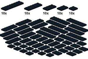 Lego-Bricksy-039-s-Bascis-Black-B24-Platten-schwarz-breit