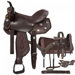 """Details about  /New Synthetic Western horse Saddle Size 10/"""" to 18/"""" inch"""