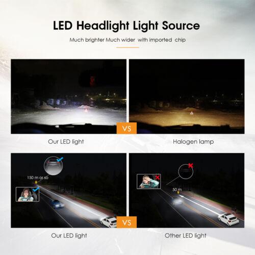 4Side LED Headlight 9005 HB3 6000K White Hi-Beam Bulb for DODGE Charger 2006-14