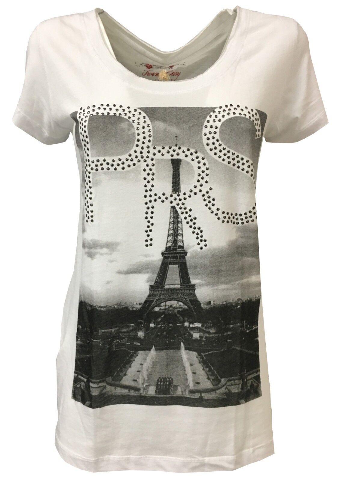 TWENTY EASY BY KAOS t-shirt donna mezza manica Bianca Made in