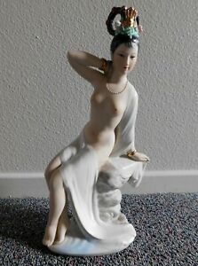 Vintage-Chinese-Porcelain-Figurine-Nude-Girl-Geisha-Lady-Woman-Republic-Period