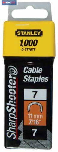 Stanley 1-CT107T  Kabelklammern CT100  11 mm  1000 St für 6-CT-10