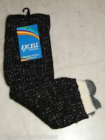 Excell Womens Black Sparkle Legwarmers. Style 103. New. Free Shipping.