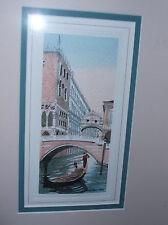 PHOTO CITYSCAPE VENICE ITALY GONDOLA CANAL BRIDGE GONDOLIER POSTER BMP10065