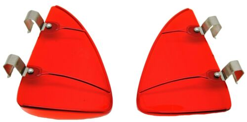 2 red acrylic stainless steel clips 3 1//2 x 5 1//2 vent or wing window Breezies