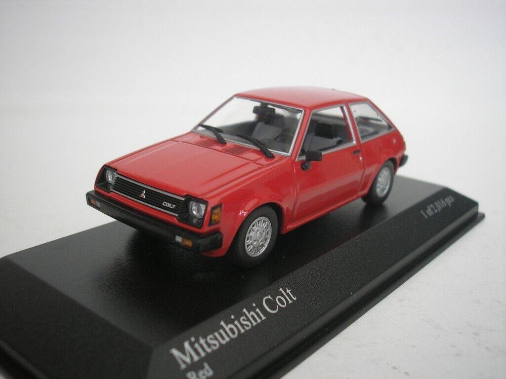 Mitsubishi Colt 1978 Rosso 1/43 Minichamps 400163501 Nuovo