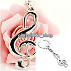 Women Popular Music Symbol Metal Key Fob Chain Ring Keyring Keychain Fahion Gift
