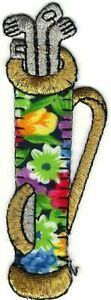 Flower Golf Bag Driver Clubs Embroidery Patch