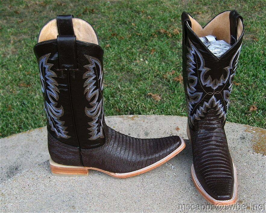 NEW  LAMEXICSNA COWBOY  EMBOSSED LIZARD   BOOTS MENS 9 MED