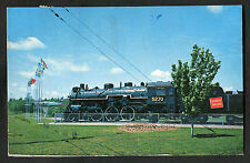 Posted 1971 View of C.N.R. Steam Locomotive, Centennial Park, Moncton
