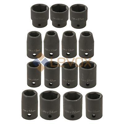 """Impact Socket 1/2"""" Unità Metrica Hex 6 Punti 10-32mm Garage Officina Meccanica-mostra Il Titolo Originale"""