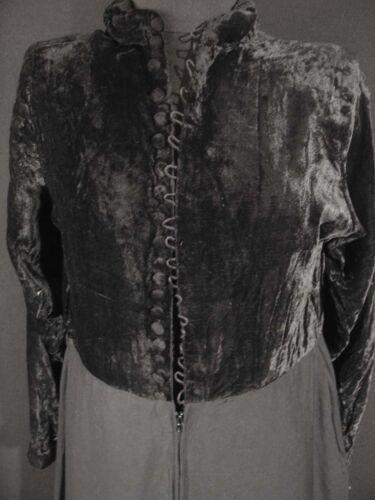 Franse jurk maat 10 en Rayon 594ms Zeldzame fluwelen 8 zwarte lange Vintage 5CqnOwZ