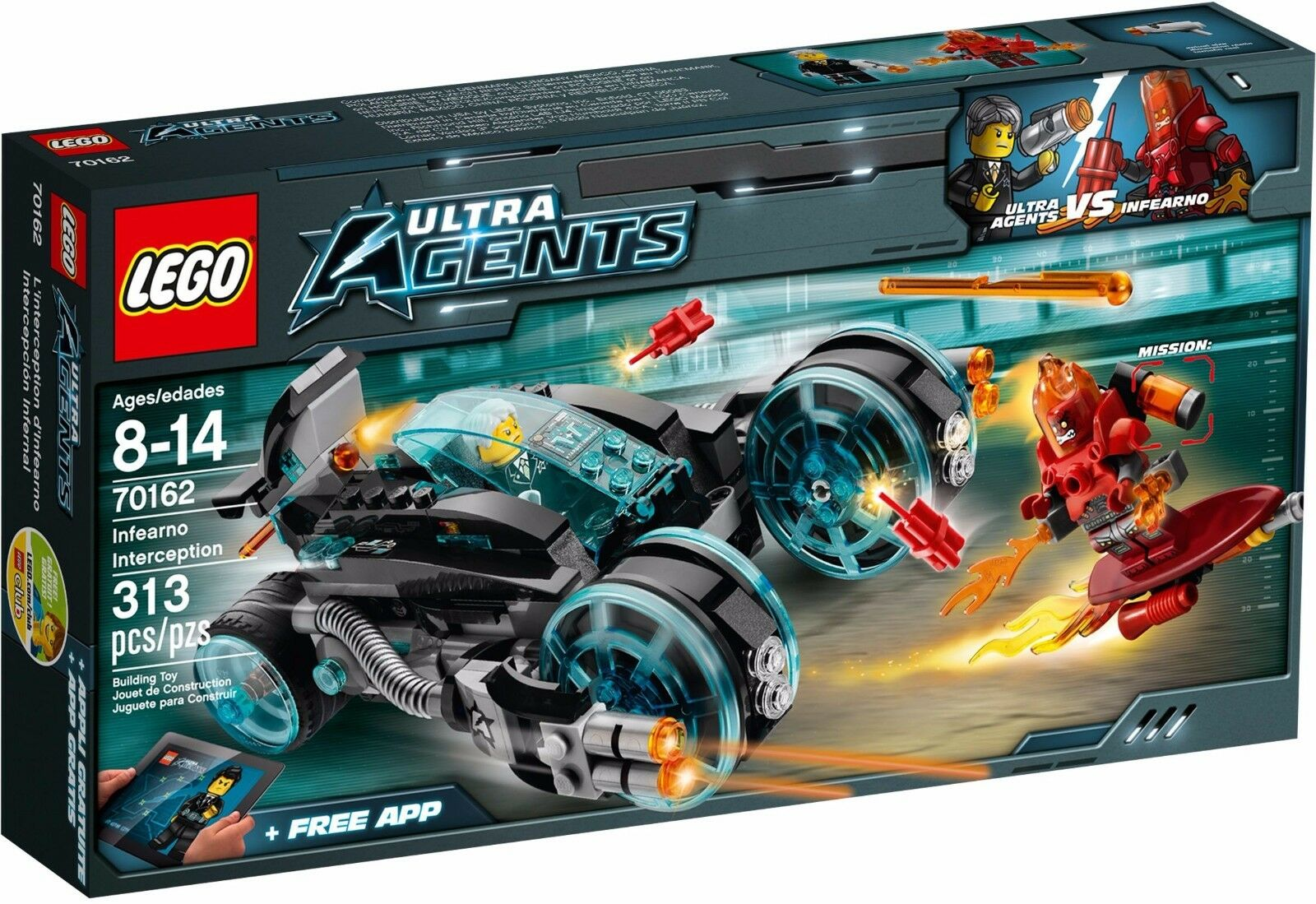 Lego Ultra Agents 70162 infearno interception BNIB retirouge sealed GENUINE