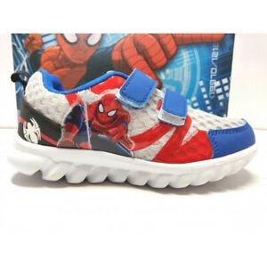 più economico 7b474 0ffd1 Dettagli su Marvel Spider-Man Scarpe Sportive Bambino ginnastica sportiva  luci strappo gomma