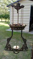antique 1871 1875 bradley & hubbard cast iron hanging oil lamp
