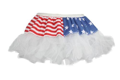 "Ladies 12/"" USA in Policotone Cyber Tutu Costume"