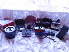 Lot of 7 Untested Vintage Cameras plus Misc.- KODAK-AGFA-CANON-FUJICA-Free Ship-