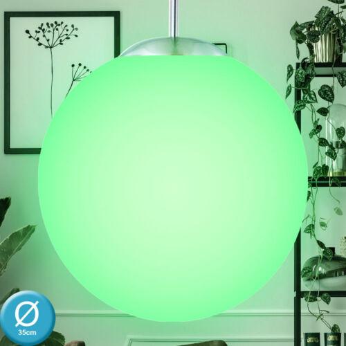 LED Pendel Hänge Lampe Decken Leuchte RGB Fernbedienung Glas Kugel Wohn Zimmer