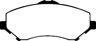 EBC DP61798  STREET ORGANIC BRAKE PADS FRONT