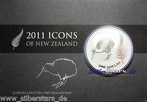 1 Oz Argent Kiwi 2011 In Coincard 1 Oz Argent Nouvelle-zélande Kiwi Dans Blister-afficher Le Titre D'origine Le Prix Reste Stable