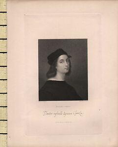 1834 Datierter Georgianisch Aufdruck ~ Raphael