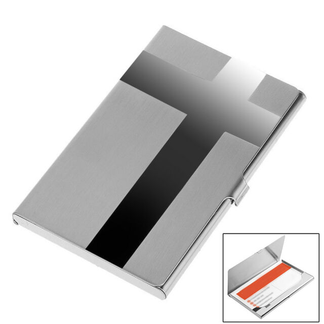 the best attitude c897e 35ee4 Cross Pocket Stainless Metal Business Card Holder Case ID Credit Wallet  Silver