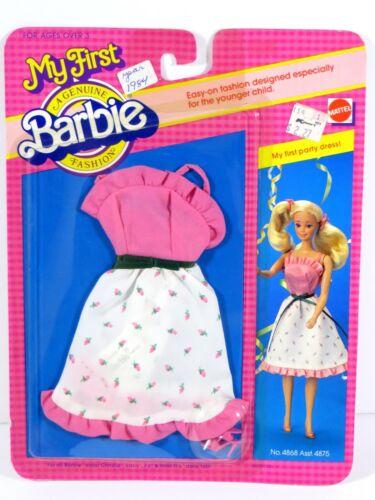 *FF578 NIB BARBIE DOLL 1983 VINTAGE FASHION MY FIRST PARTY DRESS 4868