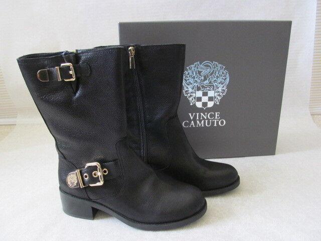 Vince Camuto Cuero Negro oro botas botas botas de Montar Talla 8 1 2 W-Nuevo Con Caja  el mejor servicio post-venta