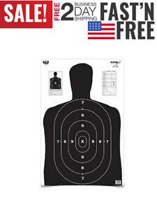 Silhouette-Paper-Shooting-Hunting-Targets-Rifle-Gun-Pistol-Black-23x35-034-5PCS