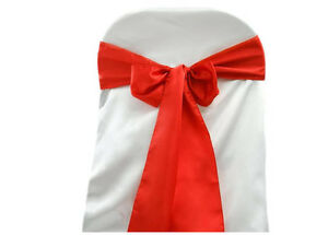 36 COLOURS AVAILABLE! 30 x SATIN CHAIR SASHES BOWS WEDDING EVENT FUNCTION!