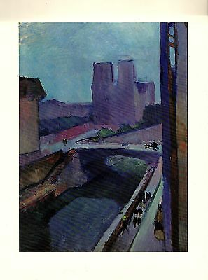 """1973 Vintage MATISSE /""""NOTRE DAME IN THE LATE AFTERNOON/"""" COLOR offset Lithograph"""