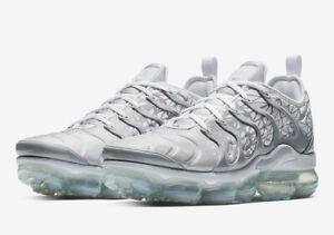 Nike-Air-Vapormax-Plus-TN-Reino-Unido-12-US-13-EUR-47-5-Plateado-Gris-Blanco-924453-106