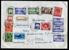 PAKISTAN 1954 Reko Brief Dt. Botschaft an Bundesminister F. J. Strauß in Bonn