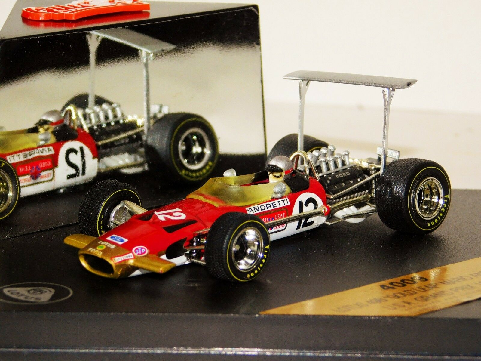 LOTUS 49B gold LEAF M. ANDRETTI USA GP 1968 QUARTZO 4009 1 43