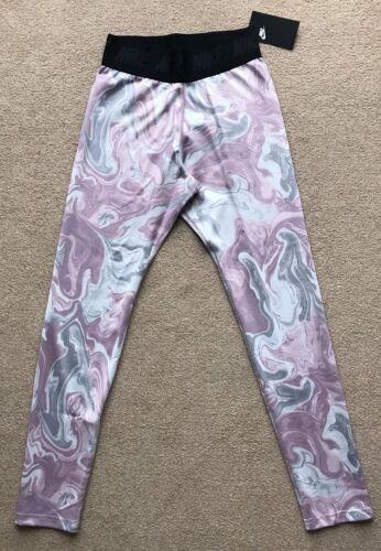 NIKE SPORTSWEAR TIGHTS Size S 8 10 LEG-A-SEE marble MULTI print BNWT