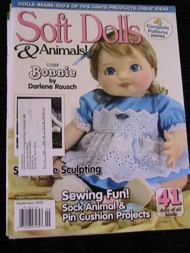 SOFT DOLLS /& ANIMALS~November 2009 cloth doll patterns~techniques~tips magazine