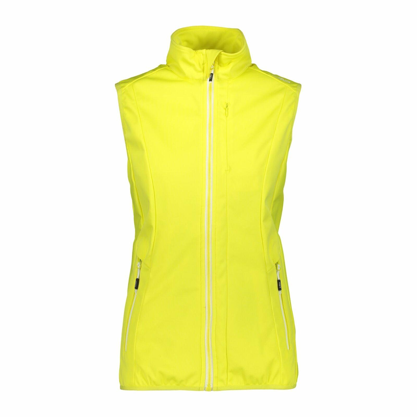 CMP Softshell Vest Vest Frau Vest Gelb Windproof Waterproof Breathable