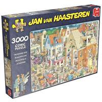 Jumbo Jigsaw Puzzle The Building Site Jan Van Haasteren 3000 Pcs Cartoon 17462