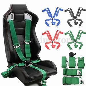 Sport-Racing-Harness-Seat-Belt-Seatbelt-3-034-4-5-Point-Fixing-Quick-Release-4Color