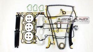 Vauxhall-Corsa-D-1-0-A10XER-cabeza-junta-conjunto-Pernos-cabeza-kit-de-la-cadena-de-distribucion