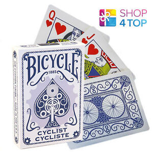 BICYCLE-CYCLIST-BLAU-SPIELKARTEN-DECK-POKER-KUNST-MAGISCHE-TRICKS-NEU-VERPACKT