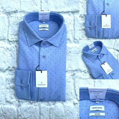 Neu mit Etikett M 40cm Seidensticker Geschneidert Hemd Baumwolle