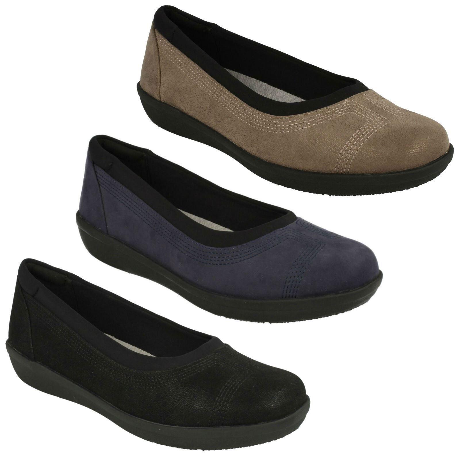Damen Clarks Freizeit Slipper Niedrige Absätze Cloudsteppers Pumps Schuhe Größe