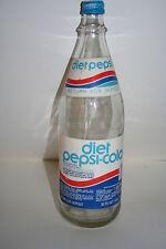 Vintage Diet Pepsi Cola 32oz Glass Bottle w/RARE paper Labels & with Cap