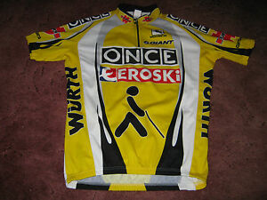 Image is loading ONCE-EROSKI-WURTH-GIANT-GIORDANA-ITALIAN-CYCLING-JERSEY- b064c98f3