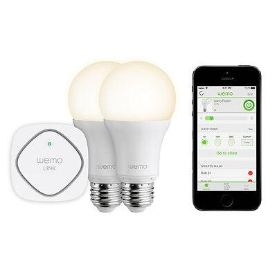 Belkin Wemo Warm White LED Lighting Starter Set - Control Lighting From Anywhere
