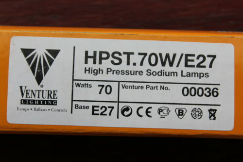 Venture 00036 70w E27 SON-T HPST High Pressure Sodium Tubular Tube Bulb  2000k